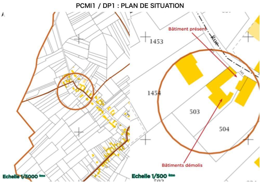 PCMI1 / DP1 : plan de situation - combles
