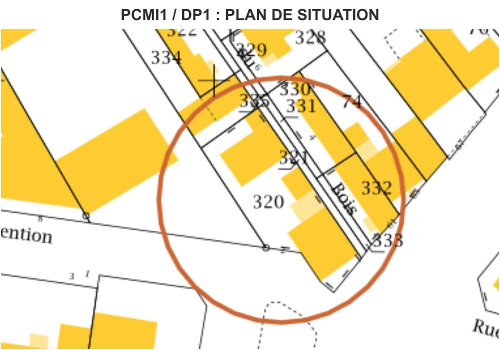 PCMI1 / DP1 - PLAN DE SITUATION - RÉNOVATION DE FAÇADES