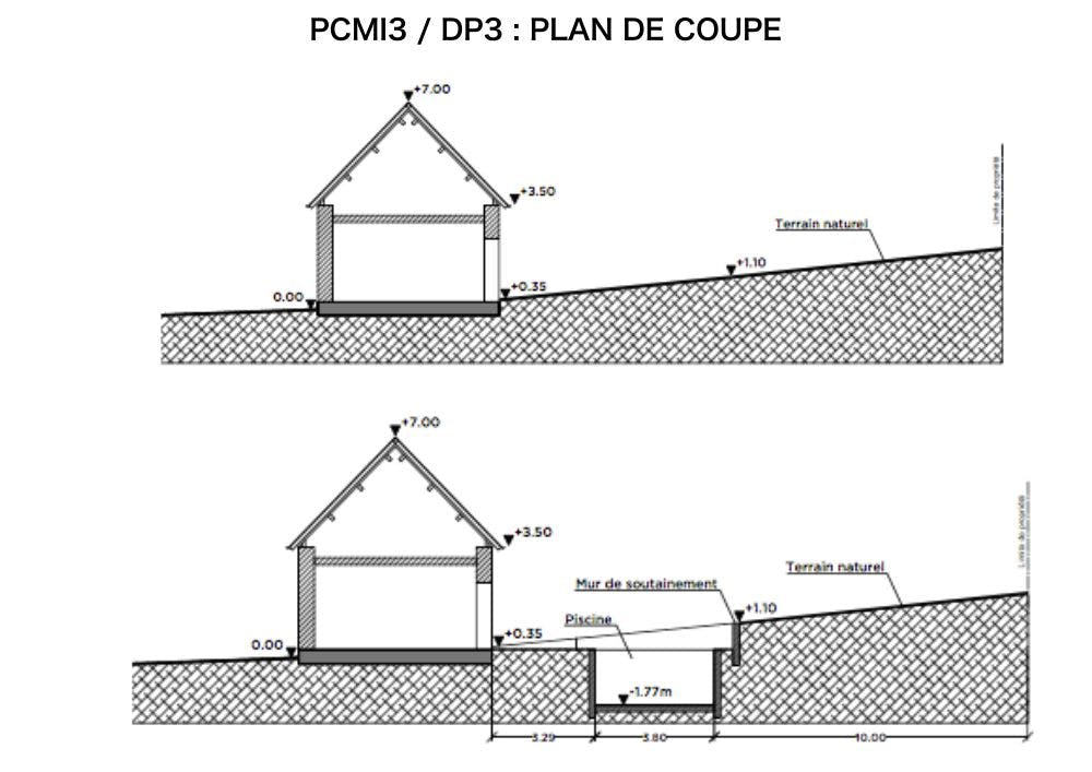 PCMI3 / DP3 : plan de coupe - piscine