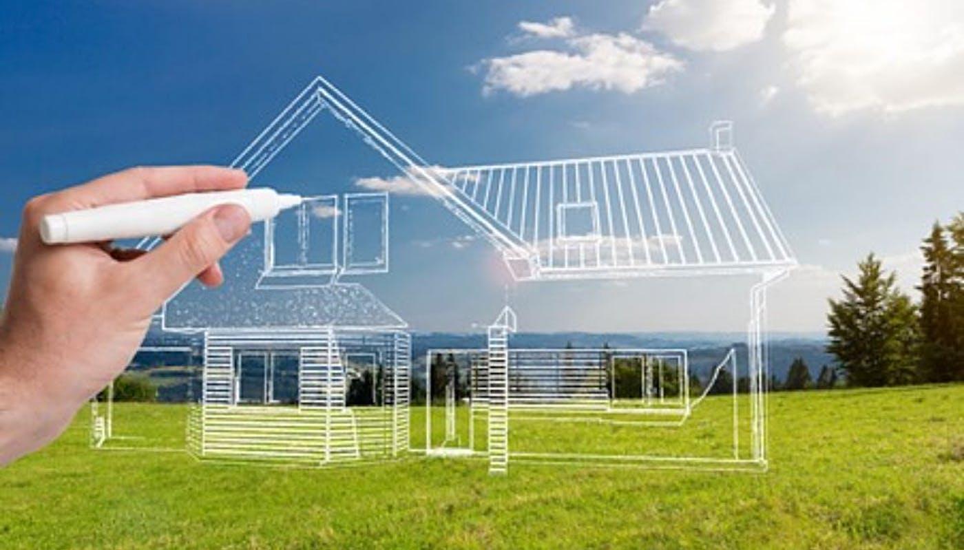 Dessin d'un plan d'une maison