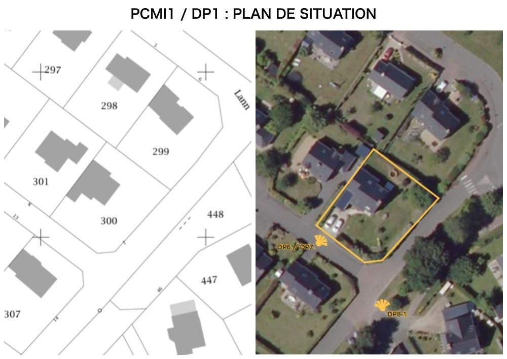 DP1 : plan de situation - fenêtre de toit