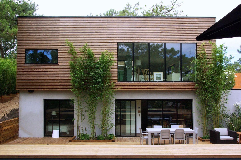 surlélévation de maison en vois, maison moderne.