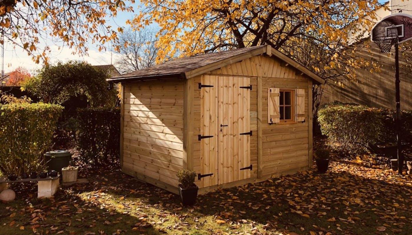 abri de jardin deux pentes en bois