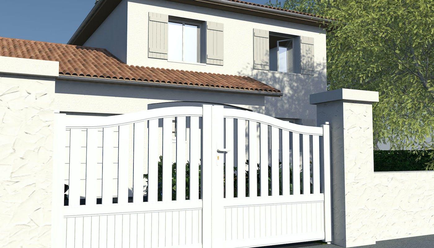 portail blanc en pvc
