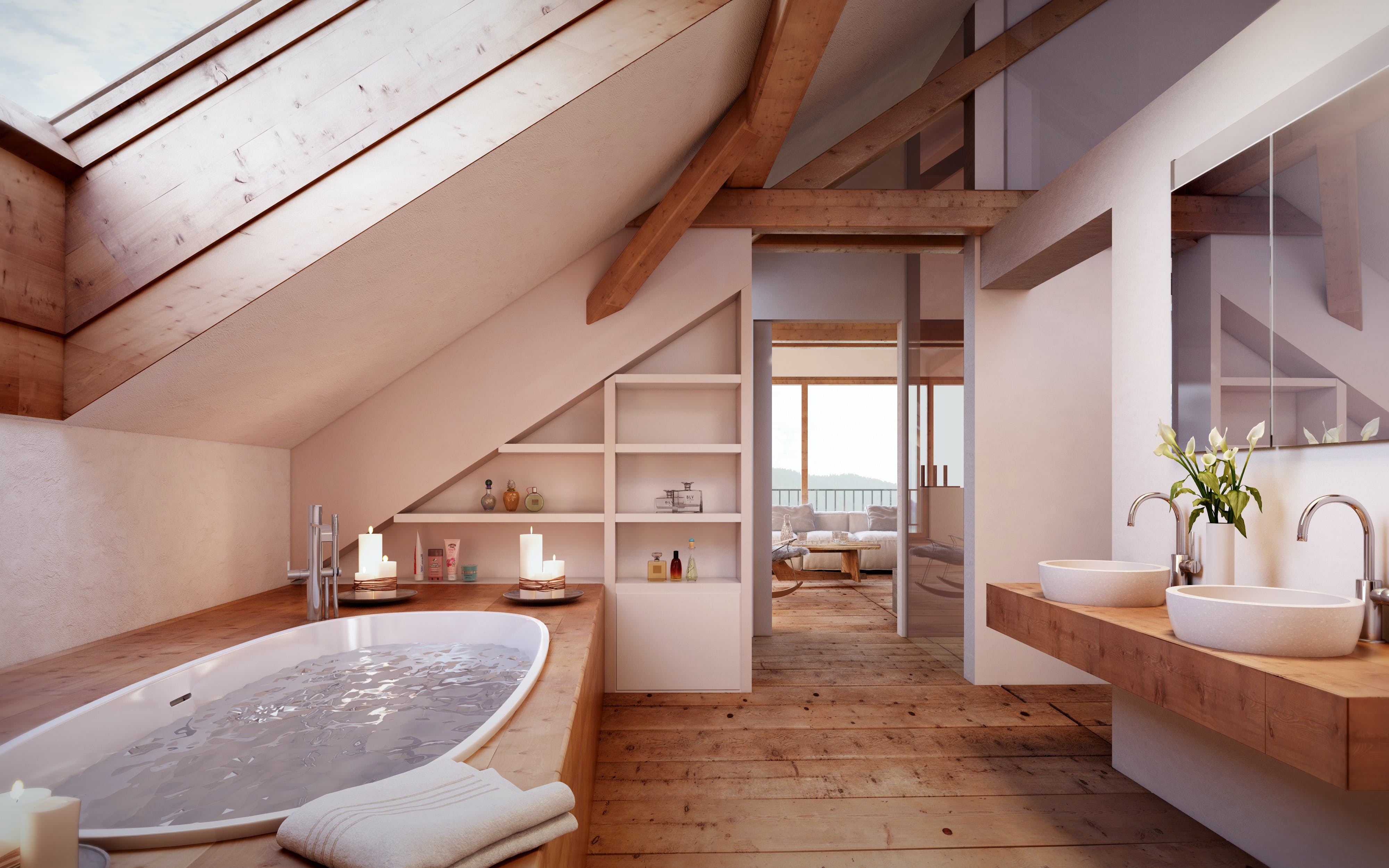 aménagement des combles en salle de bain