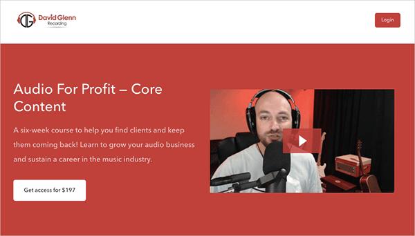 Audio for Profit — Core Content