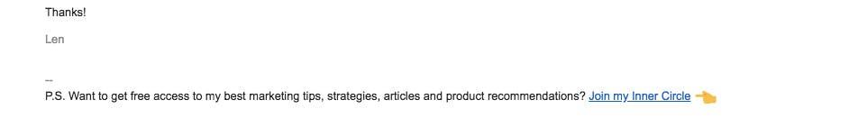 Len Markidan's email signature example