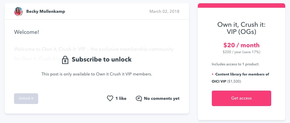 Own it Crush It Membership on Podia