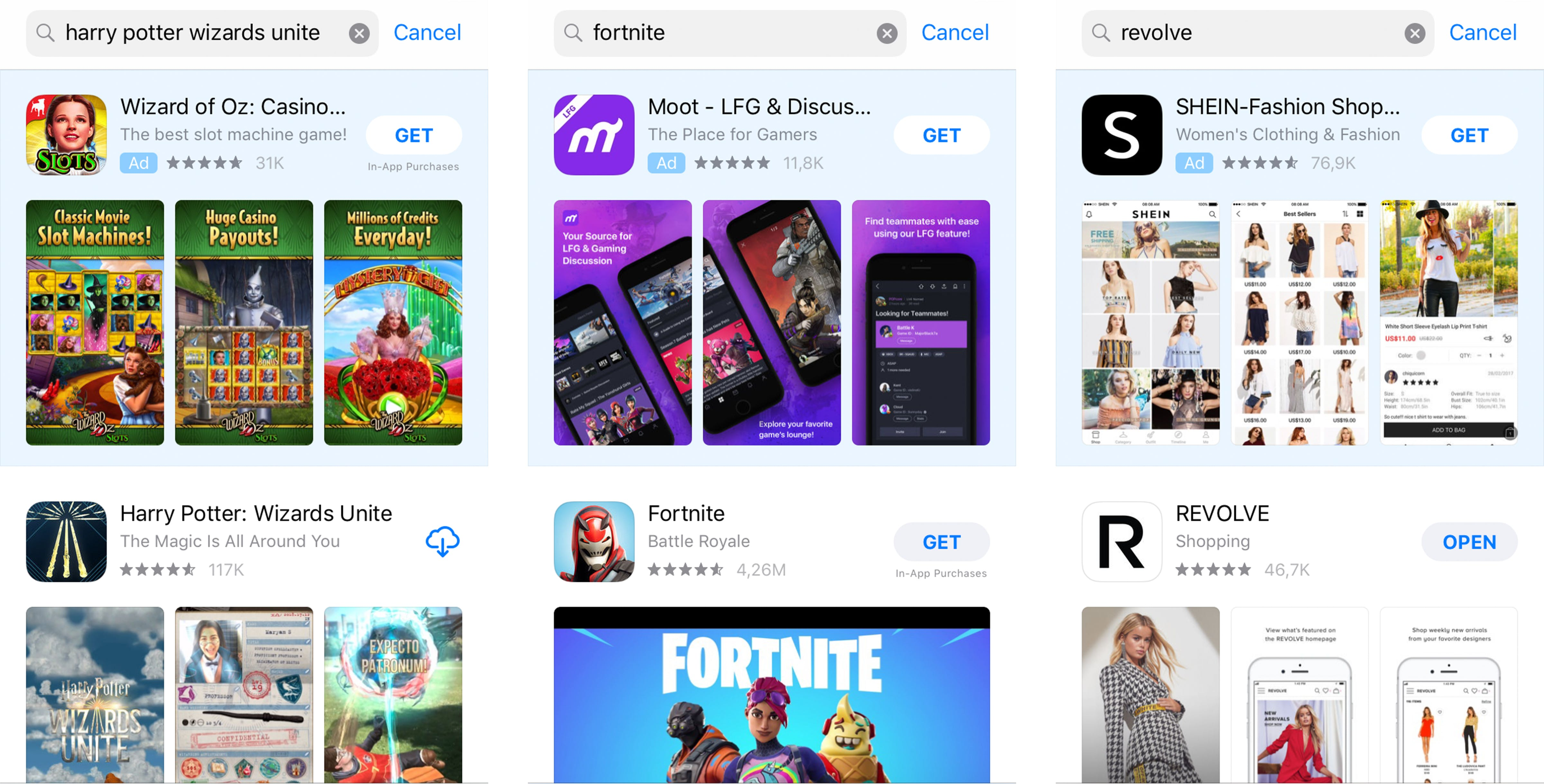 Apple Search Ads will choose 3 of your existing screenshots to show in the ad