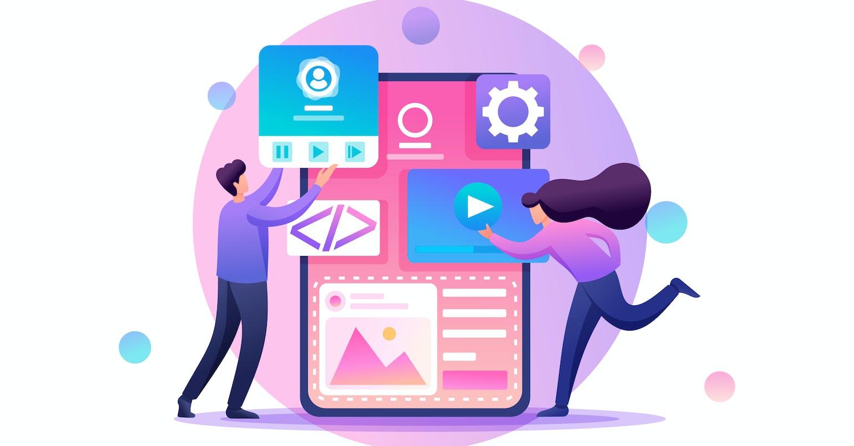 Developers engaged in mobile app design