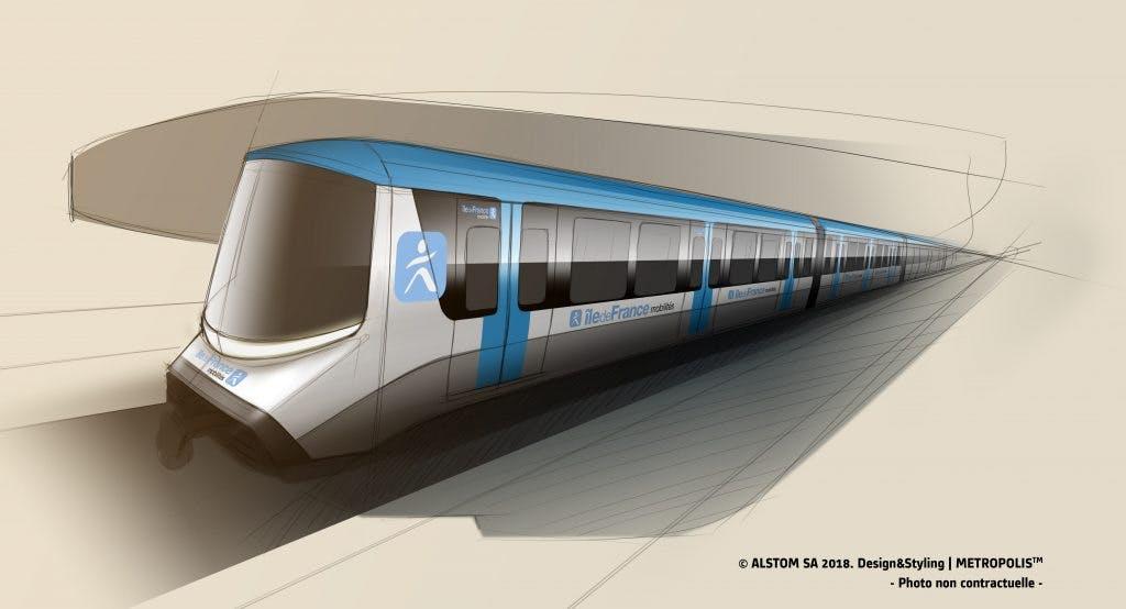Infographie : design des nouveaux métros