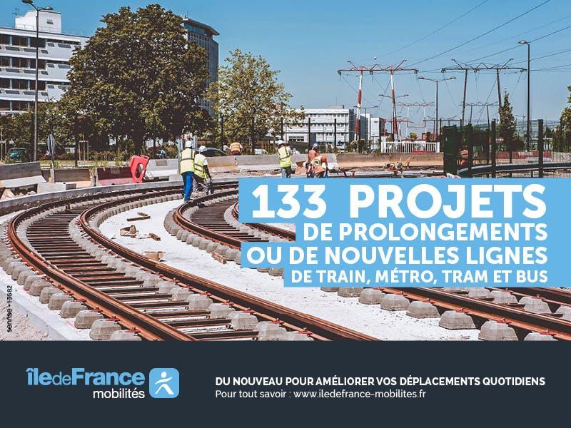 Visuel pour la campagne Travaux de prolongement de nouvelles lignes de transports