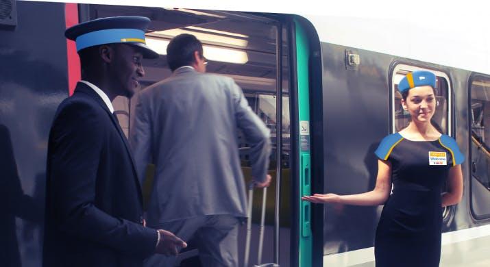 Accueil et entrée des voyageurs dans les transports en commun pendant les Jeux Olympiques