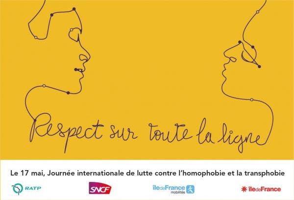 Infographie : Respect sur toute la ligne, lutte contre l'homophobie et la transphobie