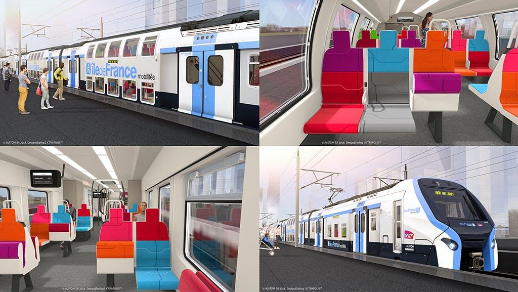 L'intérieur du futur RER d'île-de-France
