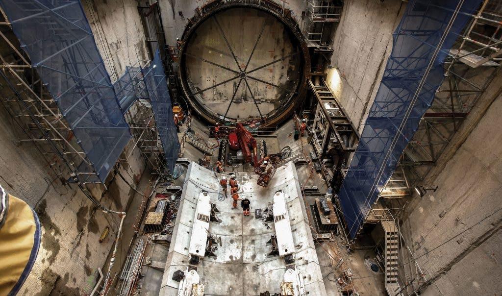 Creusement de Tunnel ferroviaire à Courbevoie
