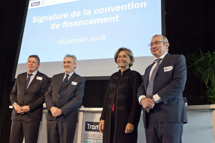Meeting des financeurs pour le tram 9