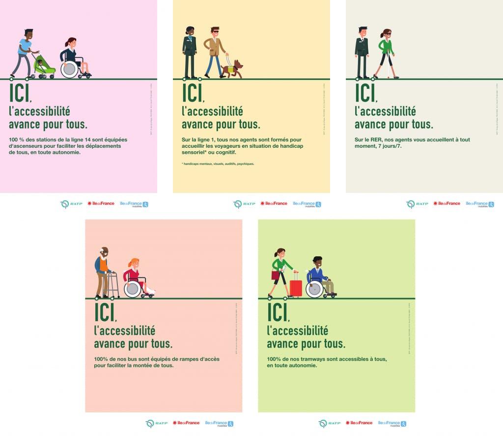 Infographie : Fiche de campagne sur l'accessibilité pour tous dans les transports en commun