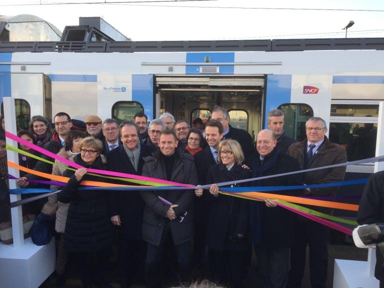 Inauguration du Regio 2N, nouveau train sur la ligne R
