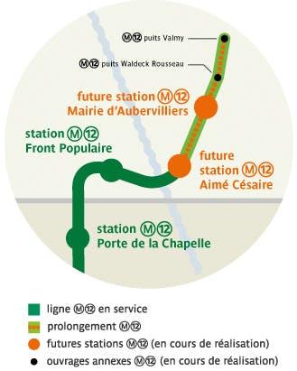 Infographie : Tracé de la ligne de métro 12