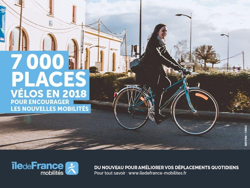 Campagne pour la création de nouveaux espaces Véligo : Utilisateur vélo en île-de-France