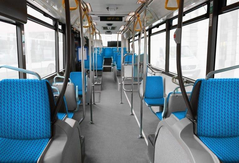 Nouveau tissu train à l'intérieur des transports en commun