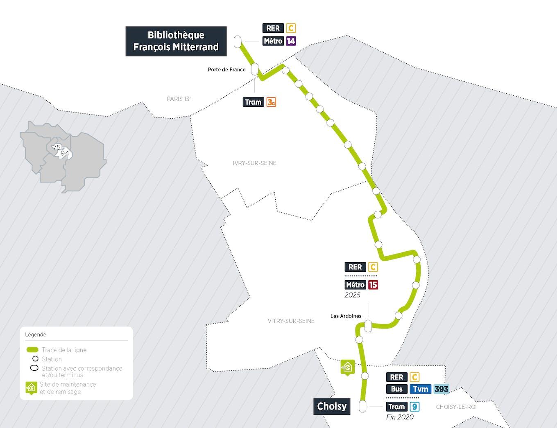 Plan du projet Bus Tzen 5 Nouvelle ligne Paris > Choisy-le-Roi