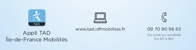 Infographie : Moyens de réservation TAD