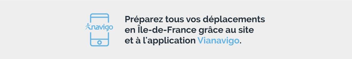 Infographie : Préparez tous vos déplacements en Île-de-France grâce au site et à l'application Vianavigo.