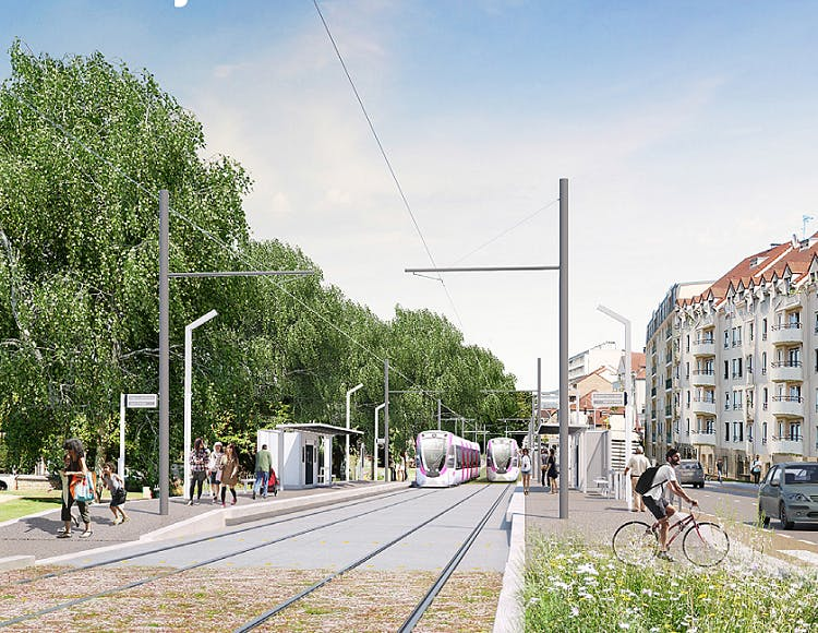 Passage Tram en phase de prolongement