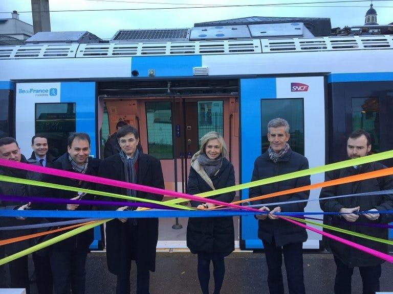 Inauguration de la ligne L par le personnel île-de-France mobilité