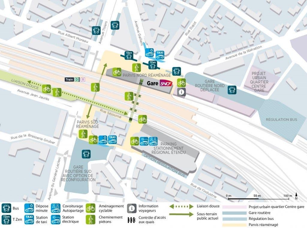 Plan des nouvelles améliorations autour de la gare