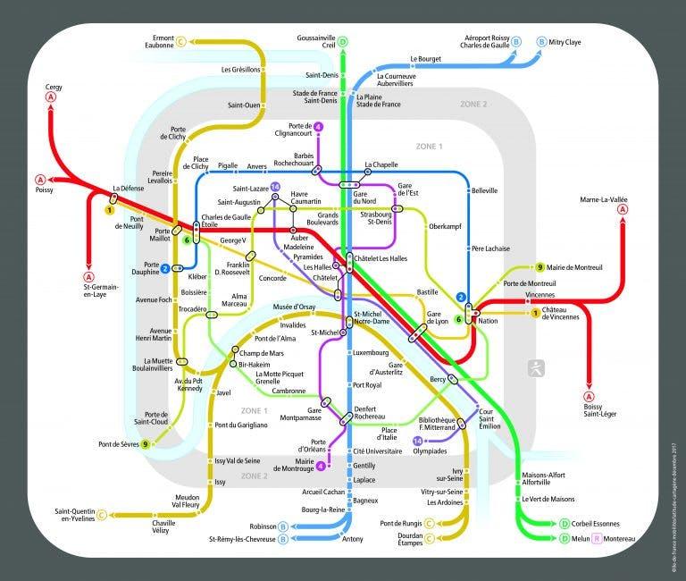 Tracé des métro en service pendant la nuit du nouvelle an