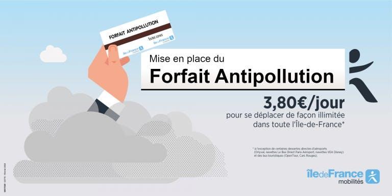 Infographie : Le forfait antipollution à 3,80 par jour