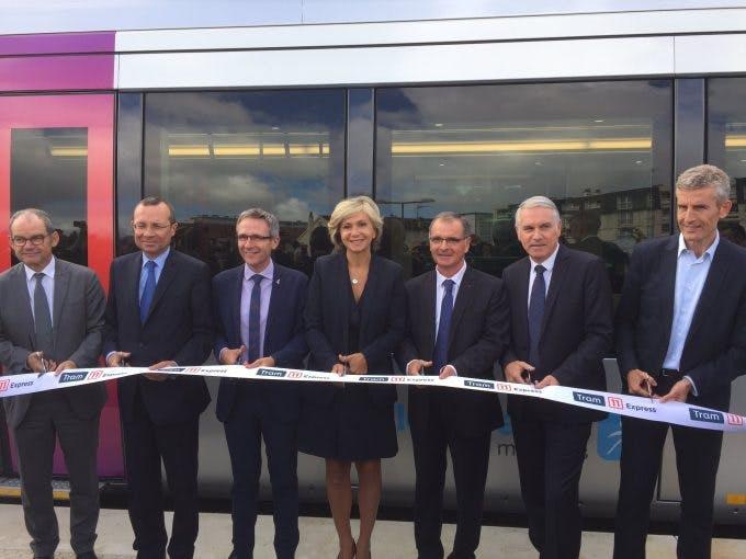 Inauguration de la ligne du Tram 11 Express