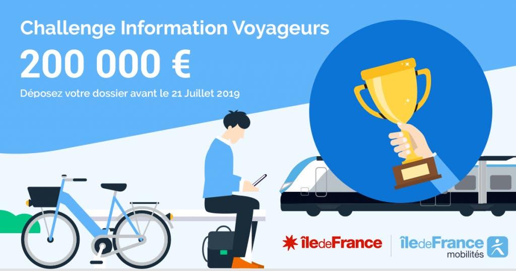 Infographie :  Challenge Information Voyageurs