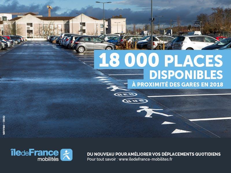 Visuel de campagne pour la création des nouvelles places de parking pour les voyageurs