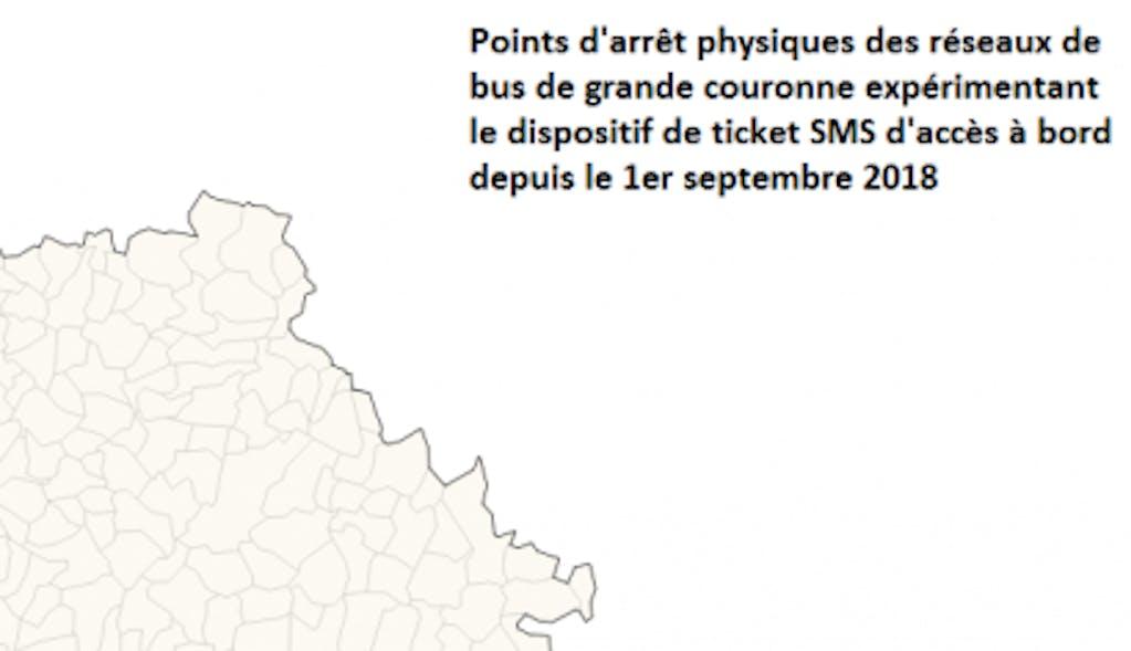 Infographie : Carte des réseaux offrant le service ticket sms