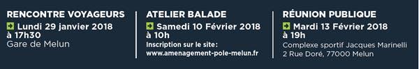Infographie : Rencontre des voyageurs, Atelier balade, Réunion publique