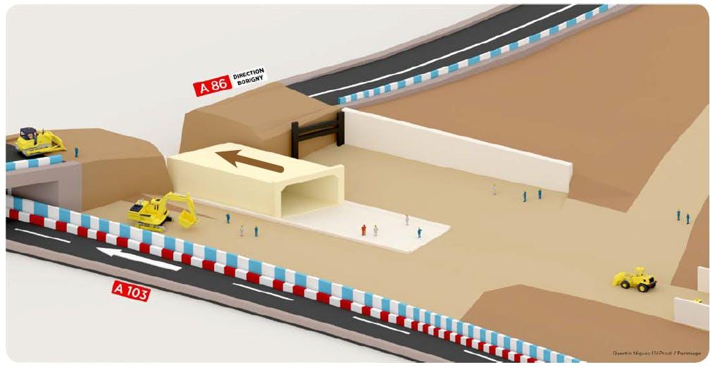 Infographie : La reconstruction de l'autoroute