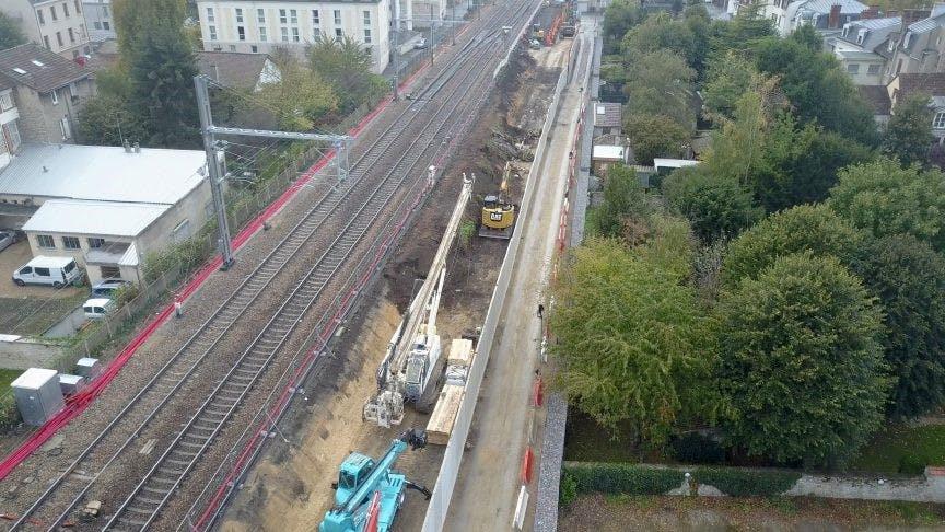Perspective sur l'avancement des travaux du RER E