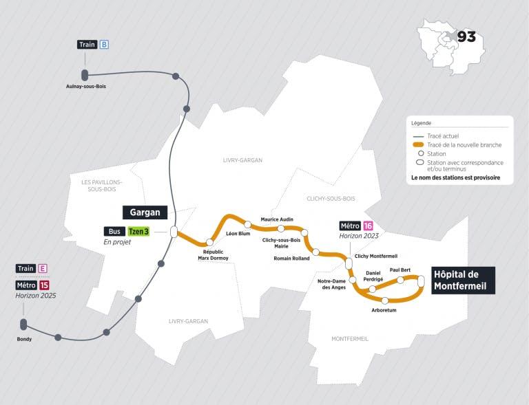 Infographie :  tracé du Tram 4