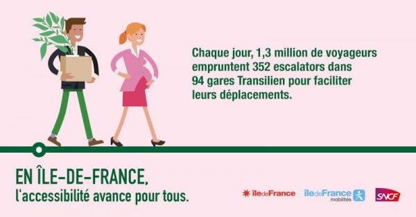 Communication Île-de-France Mobilités : en Île-de-France, l'accessibilité avance pour tous (femmes enceintes)
