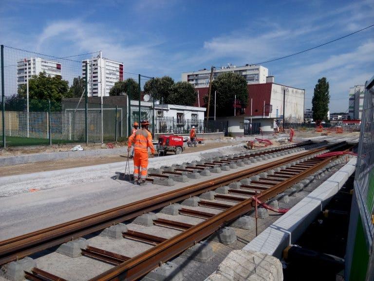 Avancement des travaux nouvelle branche du Tram 4