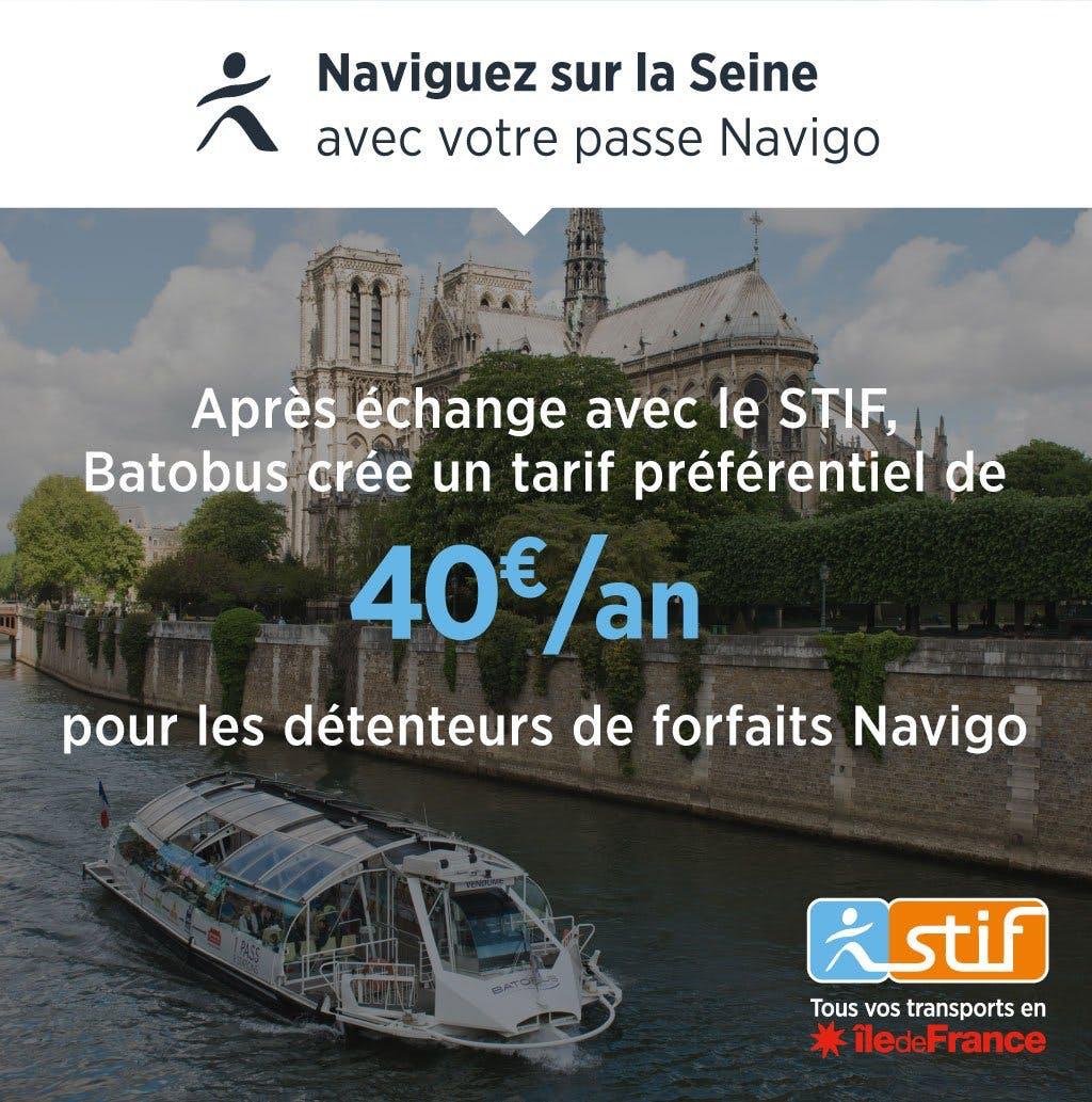 Campagne de communication : Naviguez sur la Seine avec votre passe Navigo