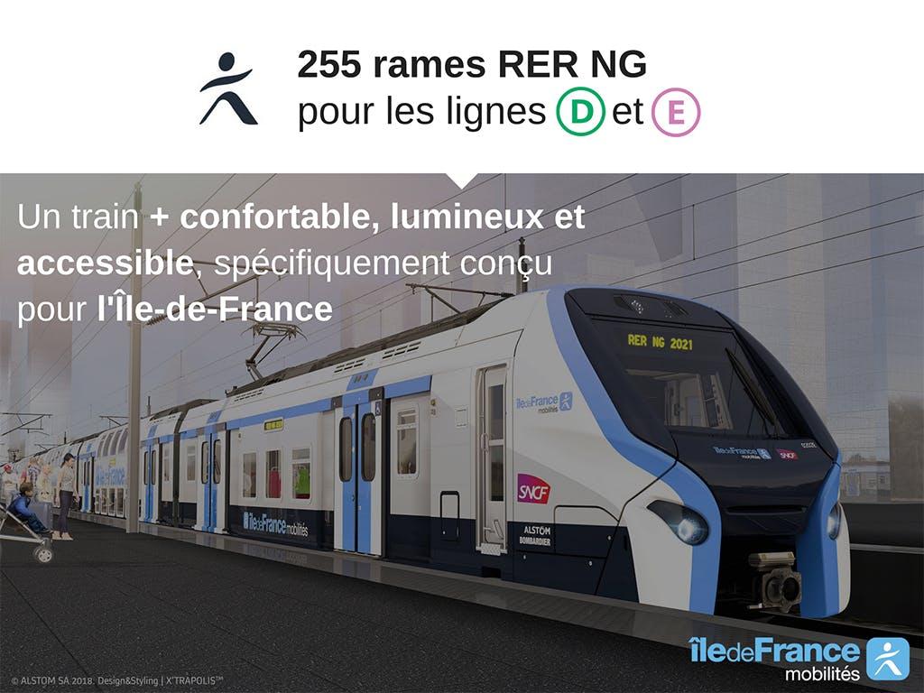 Nouvelle rame RER GN à bord
