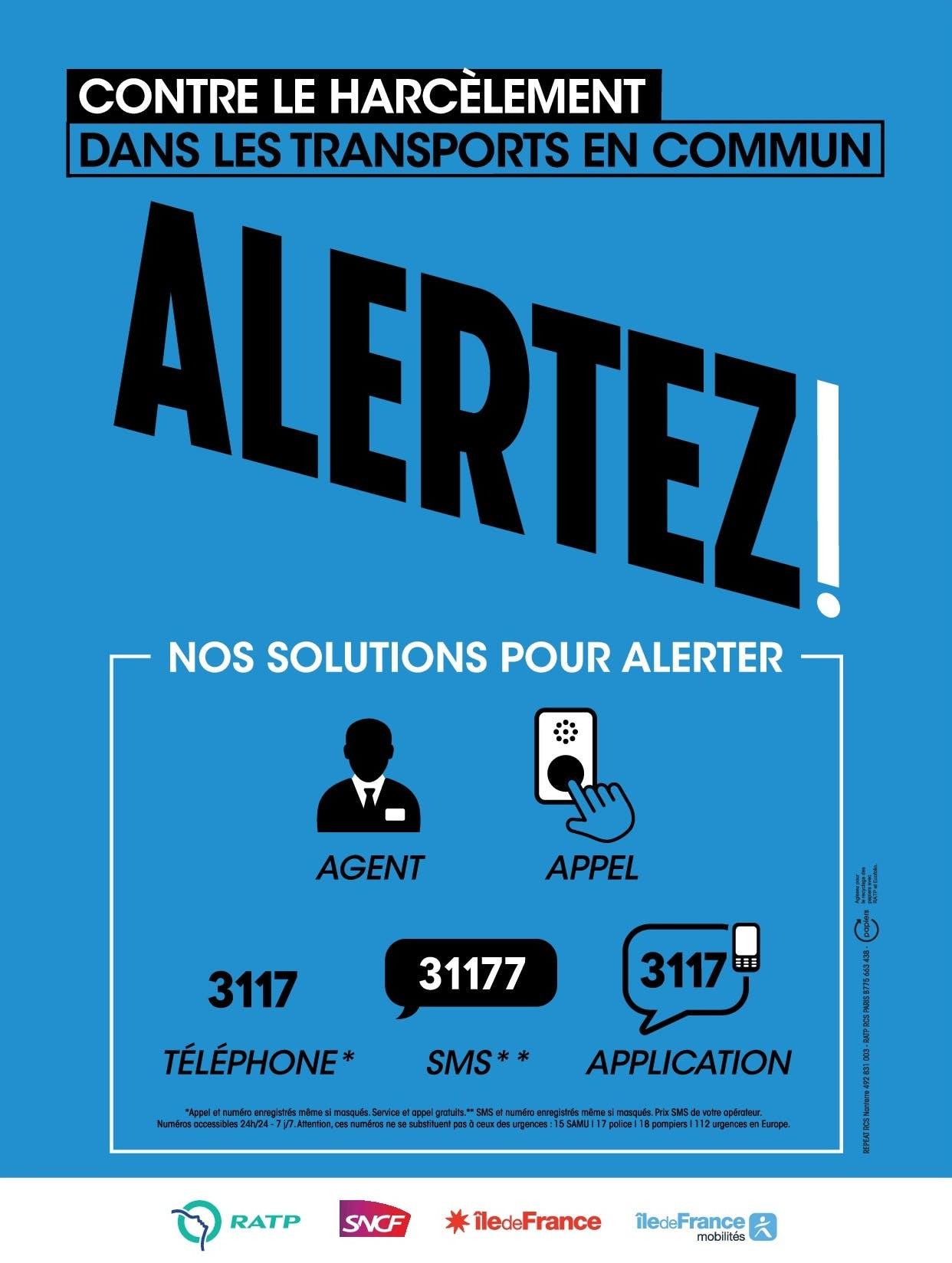 Campagne Île-de-France Mobilités : La lutte contre le harcèlement dans les transports en commun