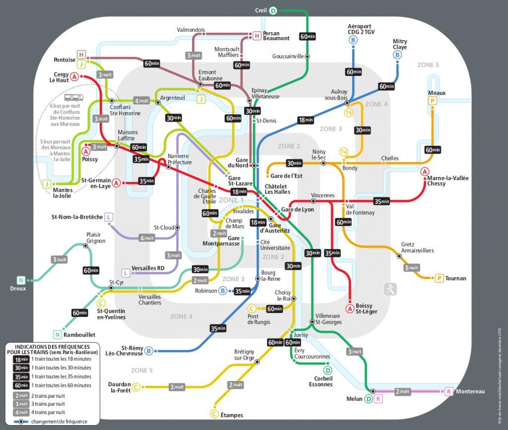 L'itinéraire des lignes de Train pour accompagner les Franciliens pendant la fête de la musique