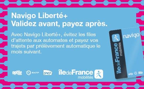 Infographie : Navigo Liberté + Validez avant, payez après