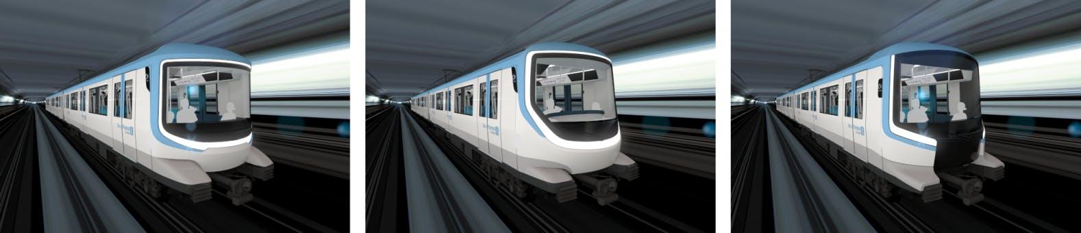Enquête île-de-France mobilités : Proposition de 3 designs de métro à choisir pour la ligne 15, 16 et 17